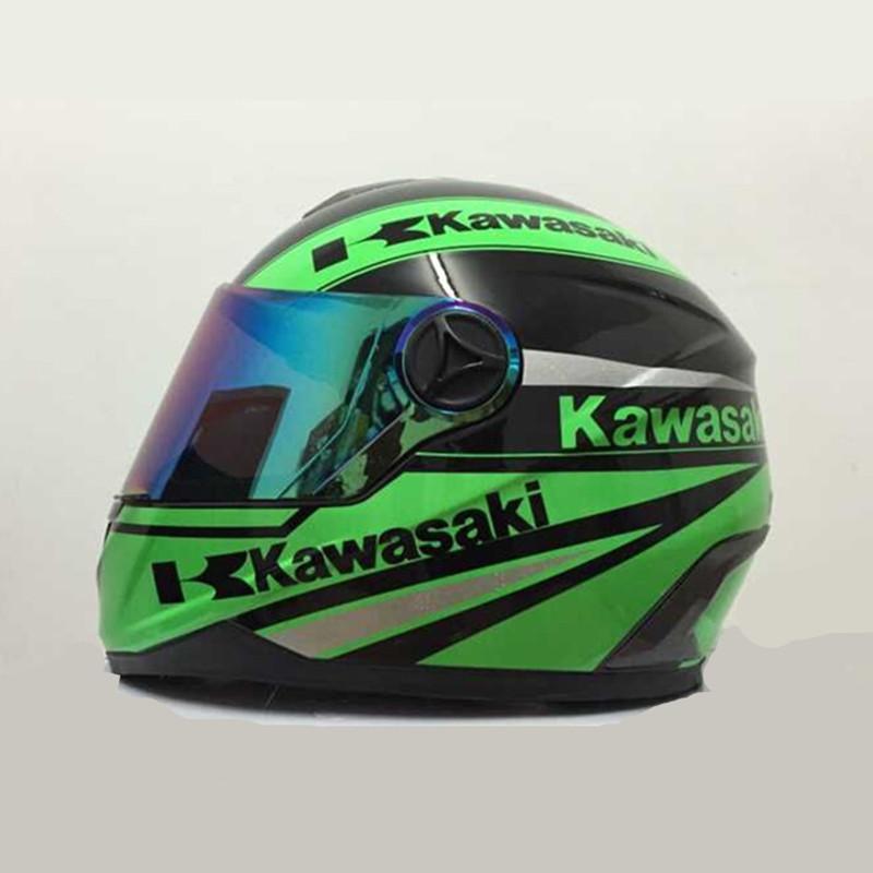 2016 New arrival brand Kawasaki motorcycle helmet Men full face helmet professional racing helmet motocicleta capacete(China (Mainland))