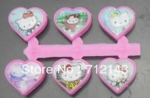 New Arrival 100pcs/lot heart hello kitty plastic slide charm free shipping(China (Mainland))