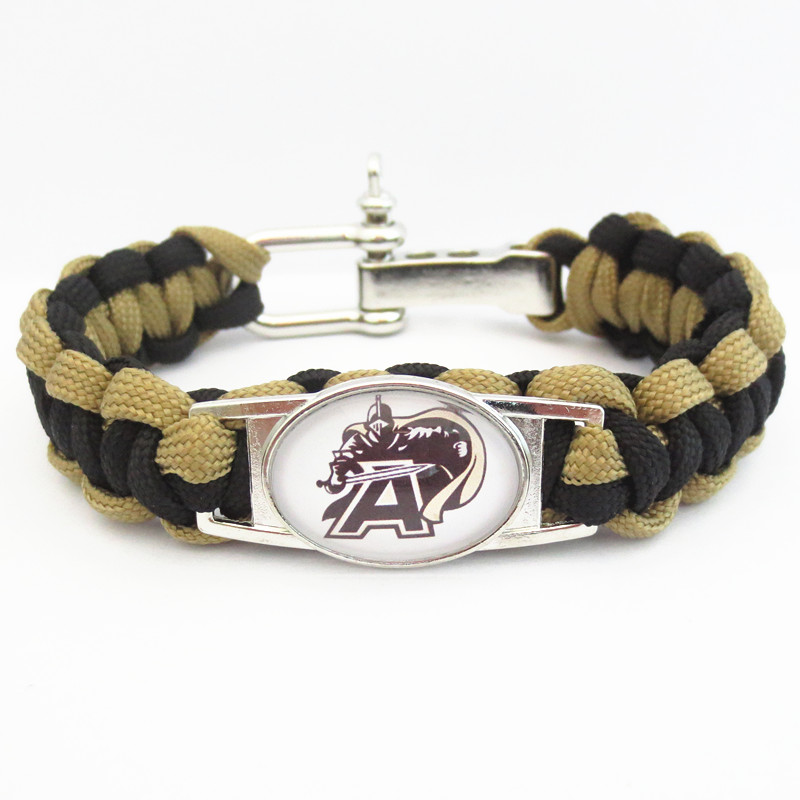 Paracord Bracelet ARMY WEST POINT BLACK KNIGHTS team sport fan college Football Bracelets friendship Drop shipping B09729(China (Mainland))