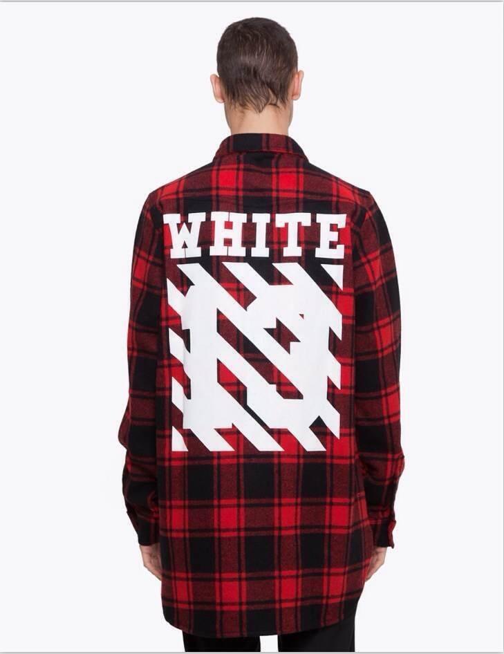 2016 Tyga cool oversized T shirts Tee men hip hop red font b Tartan b font