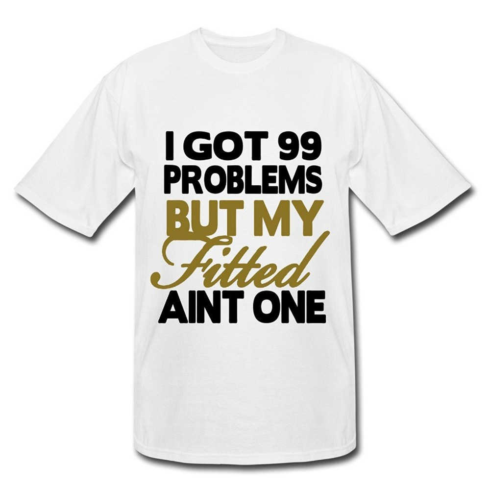 8-shirts New Arrival Male Tees Casual Boy T Shirt Tops Discounts Crew Neck Got 99 Problems Short Printing Machine T Shirts For(China (Mainland))