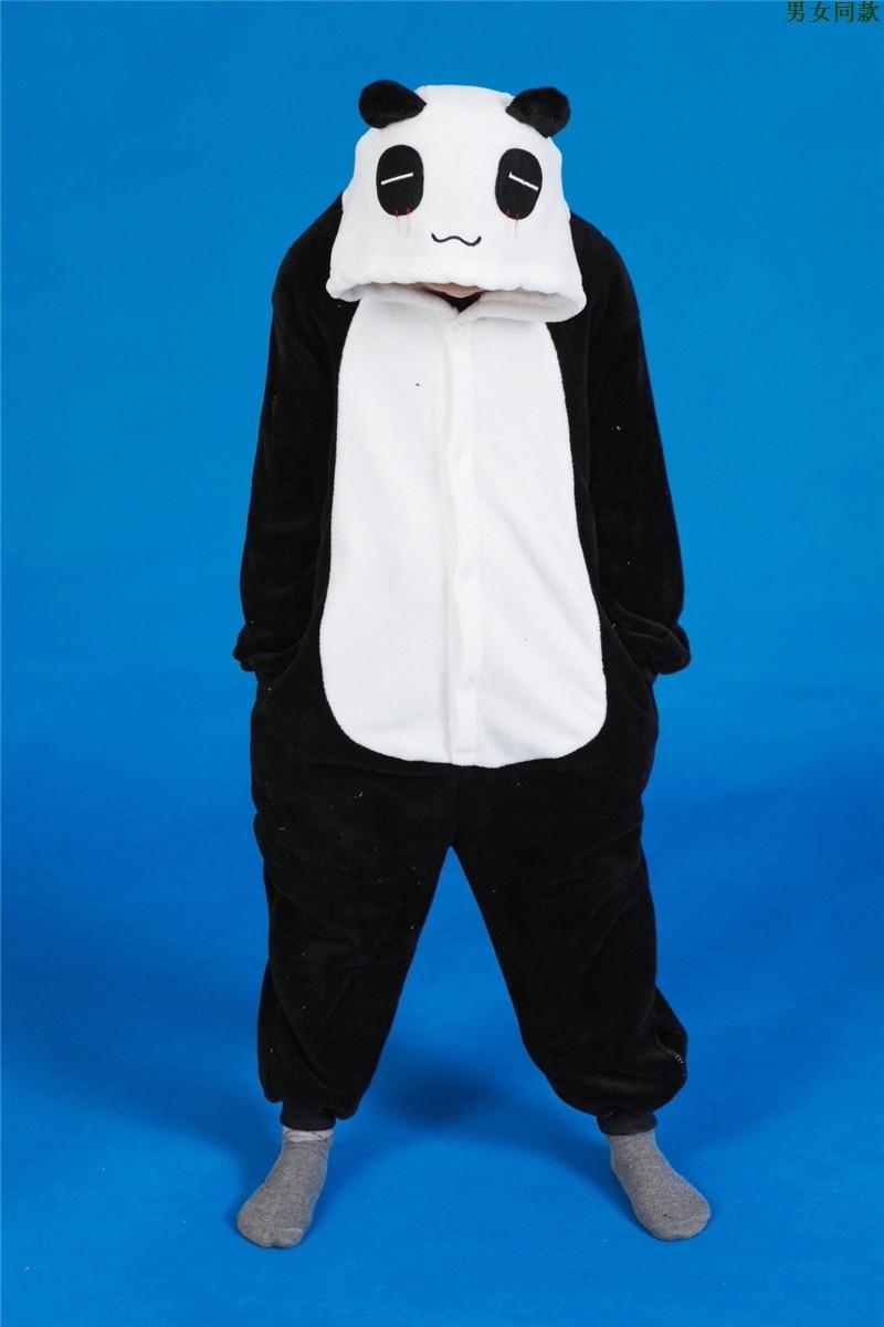 Flannel child cartoon animal sleepwear panda  boys pyjamas pijamas kids girls<br><br>Aliexpress