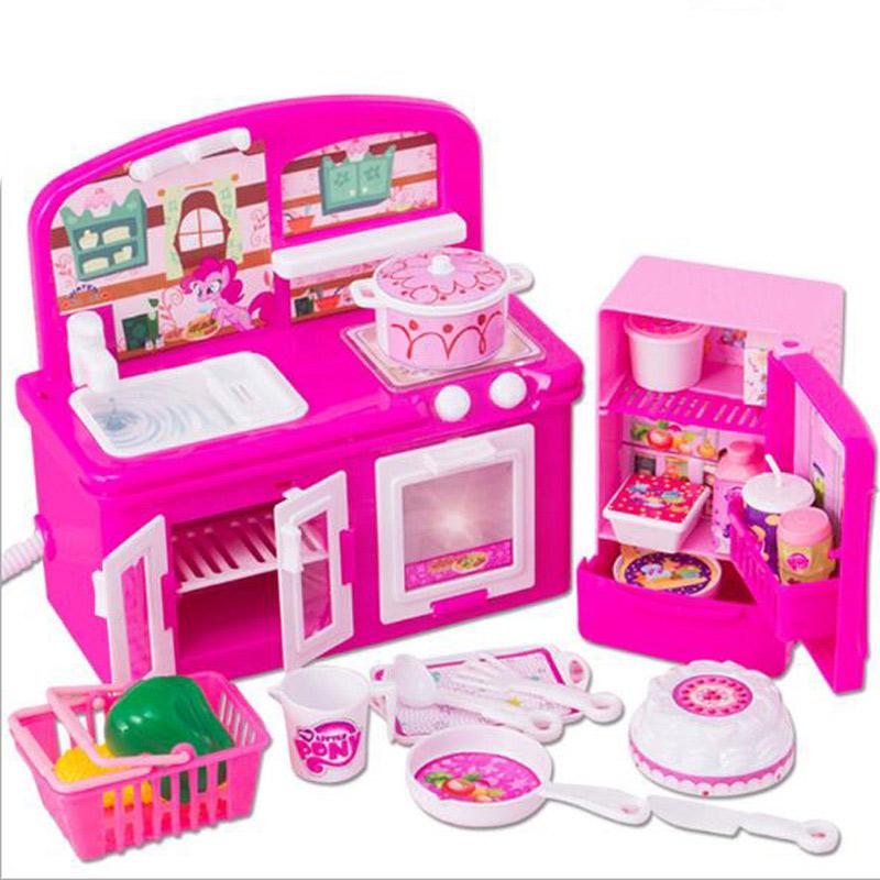 los nios de cocina de juguete pretend play vajilla comida chica dollhouse miniatura cocina set nios