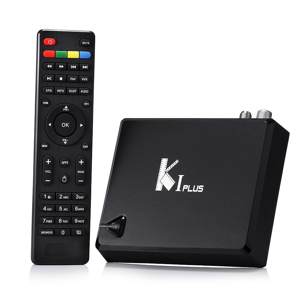KI PLUS +T2 S2 Smart  Wifi TV Box Amlogic S905 K1 Quad core 64-bit Support DVB-T2 DVB-S2 1G/8G 1080p 4K Android 5.1 Media Player<br><br>Aliexpress
