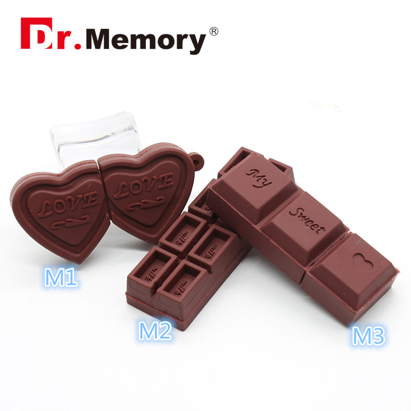 Flash USB Drive Cartoon Love Sweet Chocolate Flash Drive 4GB 8GB 16GB 32GB USB 2 0