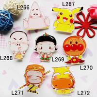 Pin Up Broche Vintage Jewelry Wholesale Cool Cheap Christmas Gift Scissorhands Monkey Pikachu Acrylic Harajuku Brooches