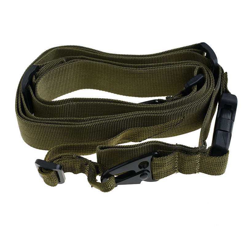 3 Point Airsoft Hunting Belt Tactical Military Elastic Black Army Green Gear Gun Sling Strap Outdoor