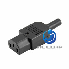 High Power IEC C13 Connector Rewirable C13 Male Power Plug Connector 3 Pin ,1 pcs(China (Mainland))