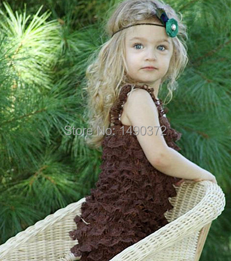 baby boys and girls brown lace romper,baby fitst bithday lace romper,stocking baby jumpsuit(China (Mainland))