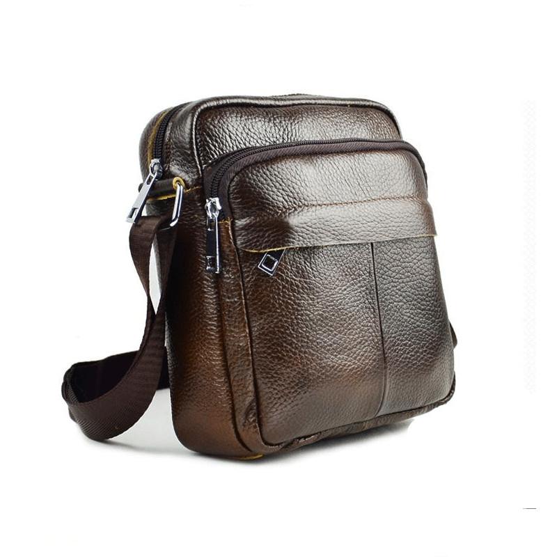 Genuine Leather Men Shoulder Bags New Fashion Hot Handbag Men Purse Crossbody Messenger Bag Travel Bolsa Brown Men's Satchels(China (Mainland))