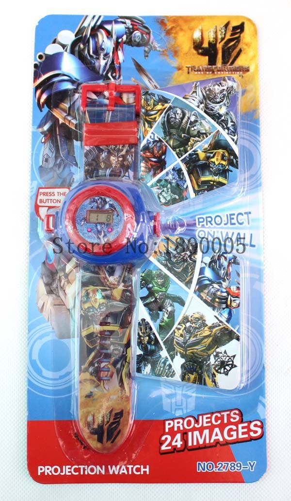 Cartoon Movie Super Hero Project 24 Images Projection Watch Hot Sale Projects On Wall Kids Watches Best Gift For Children #C628(China (Mainland))