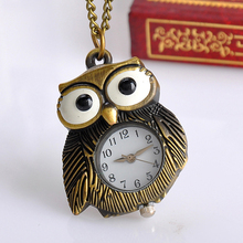 Buy Cindiry Wemon Men New Brand Fashion Owl design pocket watch Long Necklace Watch S0S75 P20 for $2.34 in AliExpress store