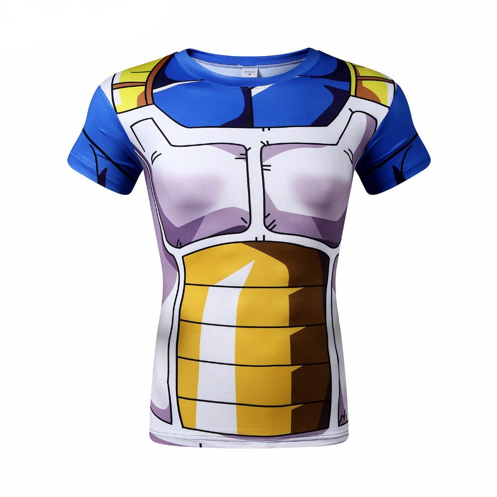2016 Brand Mens Clothing 3D Printed T-Shirts Dragon Ball Super Saiyan Goku Vegeta T Shirt Men Women Fitness Tights Sports TopsОдежда и ак�е��уары<br><br><br>Aliexpress