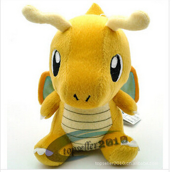 Pokemon Plush Toy Dragonite 16CM Cute Collectible Soft Stuffed Animal Doll Baby Toy Kids Gift(China (Mainland))