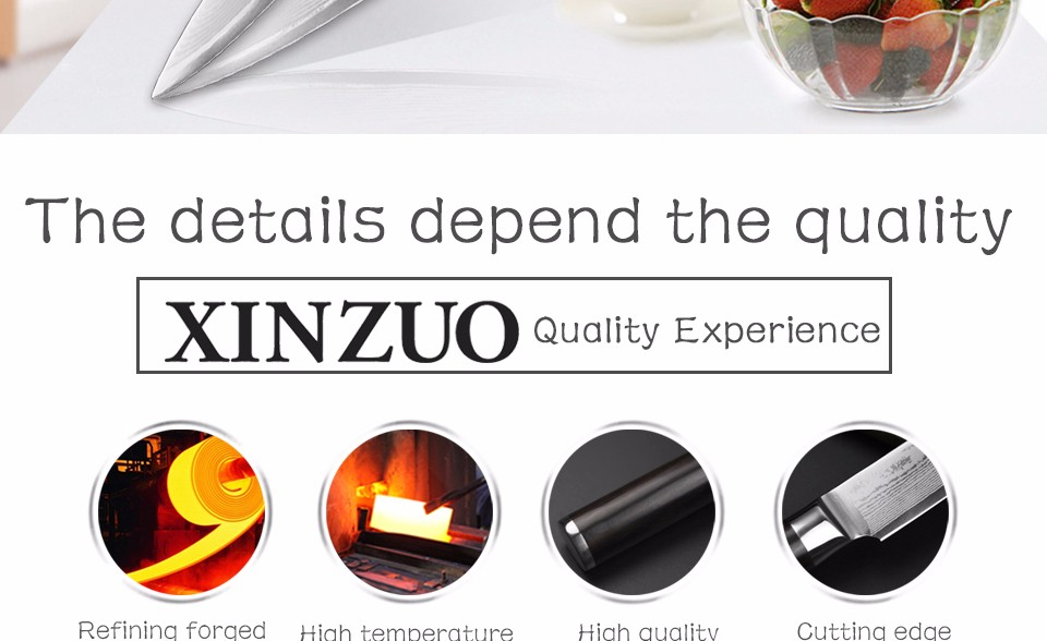 "Buy XINZUO 67 layers 5"" Japanese VG10 Damascus steel kitchen knife Utility/Universal knife ebony wood handle free shipping cheap"