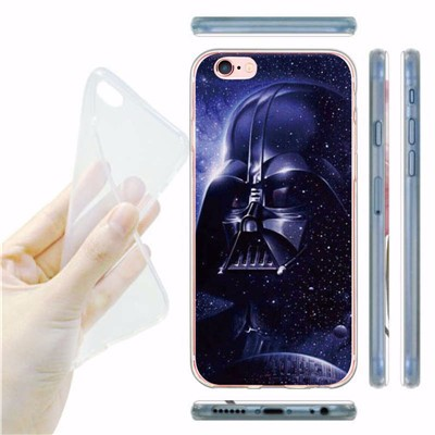 Star War Darth Vader Phone Case For iPhone 5S 6 6S 6 Plus Cure Japanese style cats Whale lions tigers butterfly TPU Back Cover