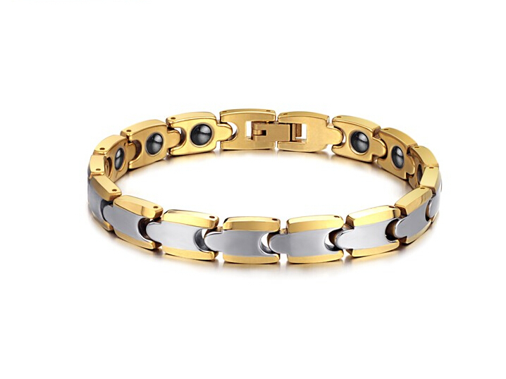 Fashion adjustable length of 18 k rose gold plating energy magnet tungsten steel bracelet&bangles for man and woman(China (Mainland))