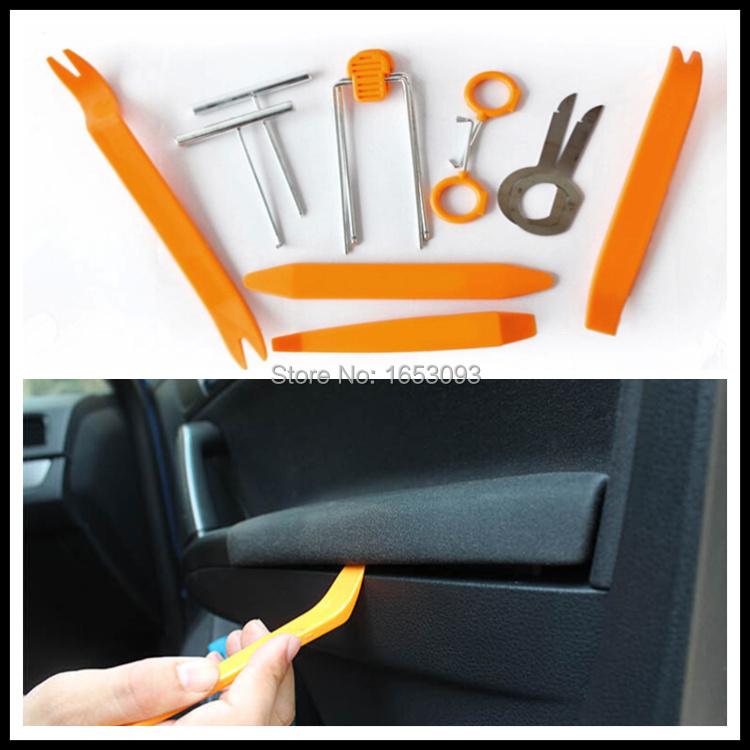 Car styling, Car Radio Door Clip Panel Kit for K2 K3 RIO Fiat jeep Volkswagen VW POLO Passat Peugeot Citroen cruze LOVA Aveo(China (Mainland))