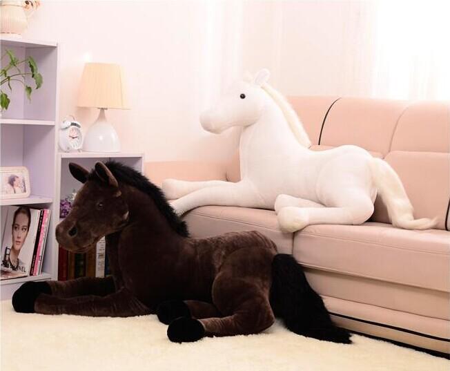 large 120cm simulation horse plush toy prone horse doll , Christmas gift w2198(China (Mainland))