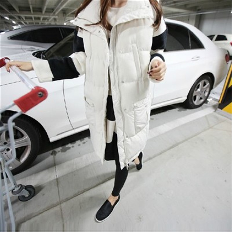 Women Vest Jacket 2015 Winter Women Cotton-Padded Down Outerwear Sleeveless Cotton Vest Plus Size Slim Jacket LJ3602