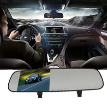 New L3000 mirrors car DVR 1080P 2.4 inch parking HD tachograph wide 90-degree car detector loop car camera recording logger(China (Mainland))