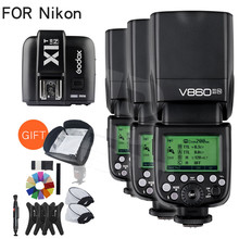 Buy Free DHL!!Godox 3x V860II-N GN60 i-TTL HSS 1/8000s 2.4G Speedlite Flash Li-ion Battery + X1T-N Flash Transmitter Nikon +Gift for $578.70 in AliExpress store