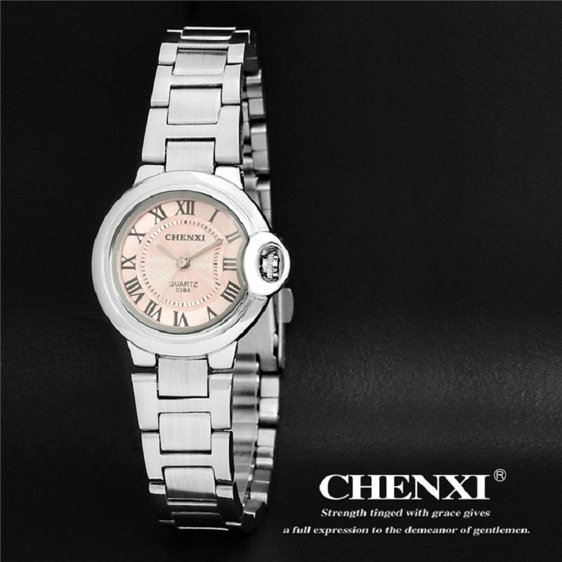 CHENXI Brand Silver Women Watches Luxury Quartz Casual Wristwatch Ladies Steel Waterproof Dress Watches horloge reloj mujer<br><br>Aliexpress