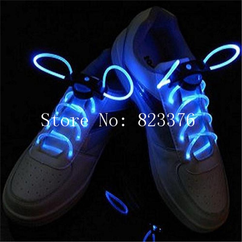 DHL Freeshipping 200pcs LED Optical Fiber Flashing Shoelaces,Optical Fiber Glowing Light LED Shoelaces Glow Shoelaces(China (Mainland))