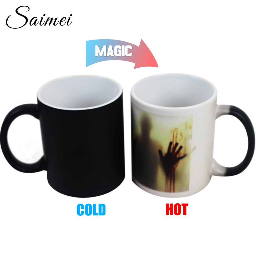 Saimei Design Newest Design Zombie Color Changing Coffee Mug Heat Senstive Magic Walking Dead Bloody Customize Gift With Box(China (Mainland))
