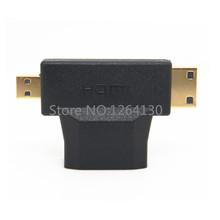 Buy 3 in1 Micro HDMI &Mini HDMI male HDMI Female adapter Connecter Android/Tablet/Mobile phone 1080P HDTV Free for $2.99 in AliExpress store