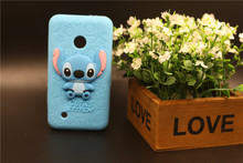 Buy Case Nokia Lumia 530 N530 Durable Soft Silicon Back Cover 3D Cartoon Cute 3D Cartoon Stitch Pattern Phone Bag Free for $2.93 in AliExpress store