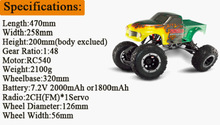 HSP 94180 1/10th Sacle RC Car 4WD Electric Powered Off-Road rc Crawler 2.4G Climbing Truck / car P3