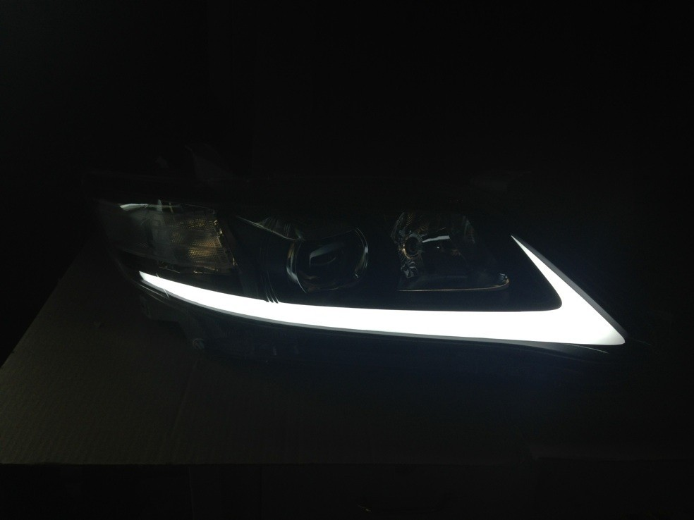 Led Drl Angel Eyes Projector Lens Headlight For 2009 2011 Year Toyota Camry In Lights