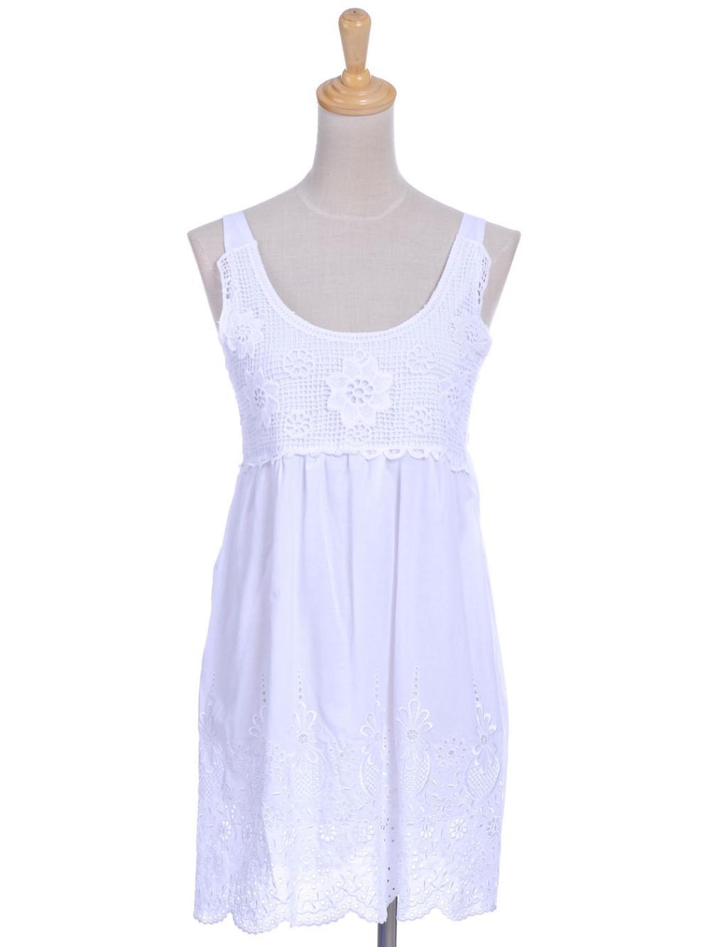 White Eyelet Summer Dress