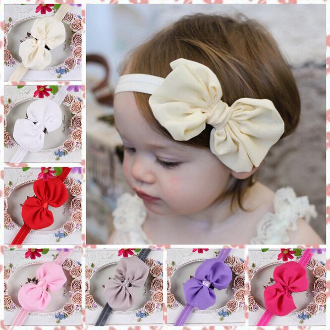 New Design Baby Girl Chiffon Bow Hair Bands Newborn Infant Toddler Cute Knot Headband Hairband Haar Accessoires(China (Mainland))
