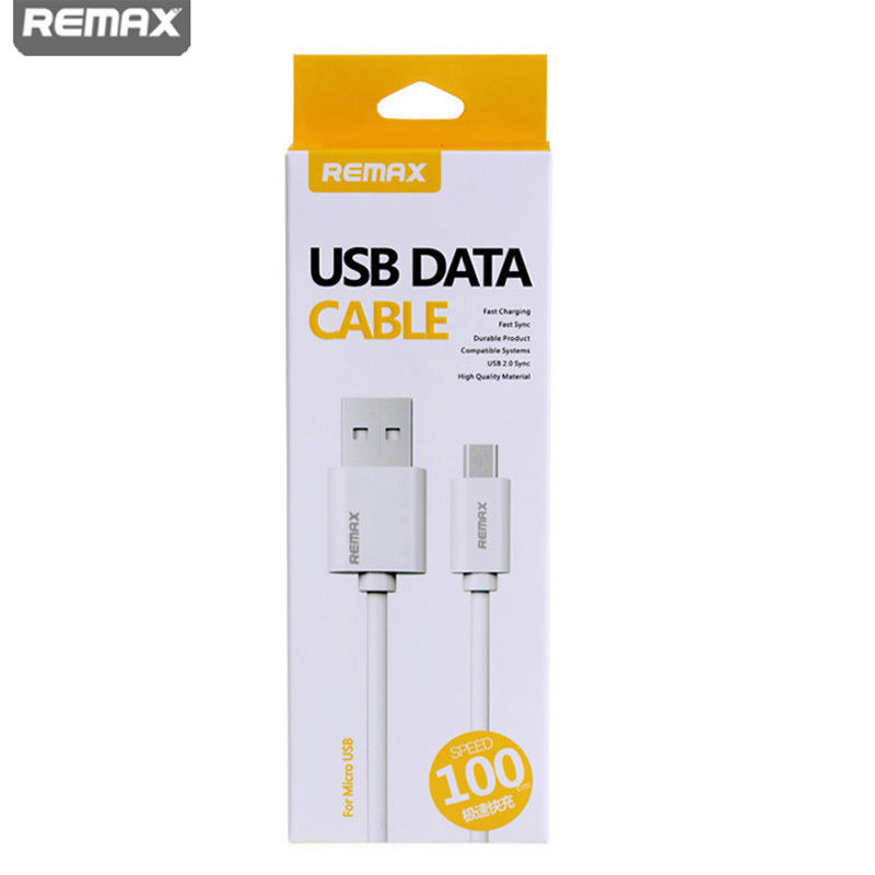 Remax Fast charge 2A 1m white micro usb cable 2.0 mobile phone cable android charger data cable for samsung galaxy s4 5 6 xiaomi(China (Mainland))
