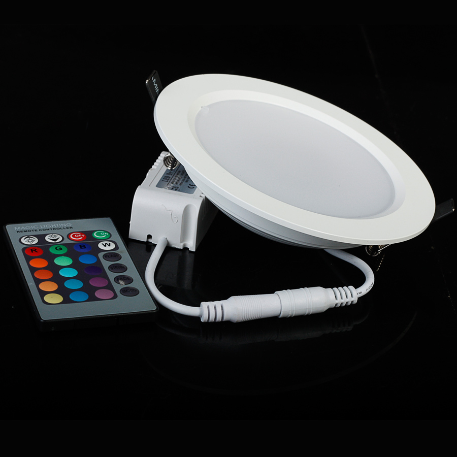White Housing 900lm Round 10w LED Panel RGB Light Ceiling lights With Indoor Light Freeshipping<br><br>Aliexpress