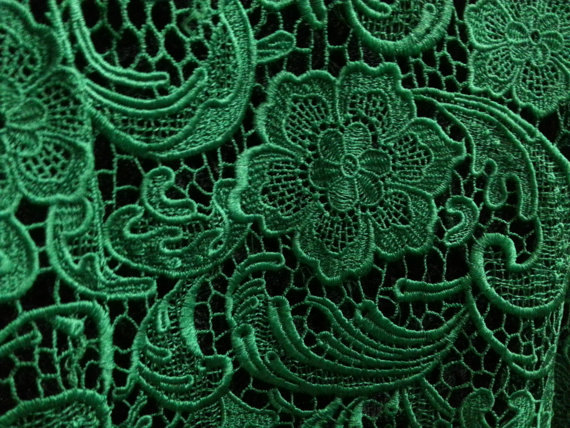 Buy emerald lace fabric venice lace for Cloth for sale by the yard