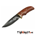 CJH forged small straight knife 60HRC hand hammered copper head knife Melaleuca steel rapid response tool