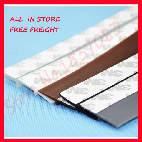 45mm width 3M self adhesive silicone rubber door window sealing strip sound insulation<br><br>Aliexpress