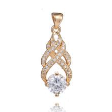 Wholesale 1pc 18K Rose Gold Filled Wonderful CZ Unusual Woman's Pendant(China (Mainland))