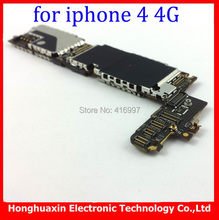 3pcs/lot free shipping wholesale price original unlocked mainboard for iphone 4 4g 16GB system board Europea version Motherboard(China (Mainland))