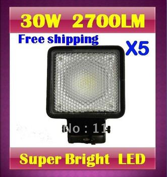 5 X 30W 2700LM 7.5 inches  LED Work Light  Waterproof Aluminum  mining fog lamp truck off road + Top quality by DHL