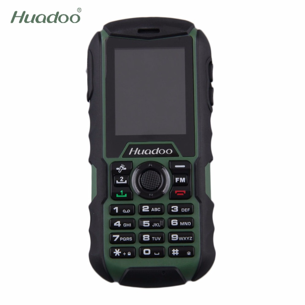 Huadoo H1 Dustproof Mobile Phone 2.0 inch Rugged Dual SIM IP68 Waterproof Shockproof 2000mAh Outdoor Old Man 0.3MP Cellphone(China (Mainland))