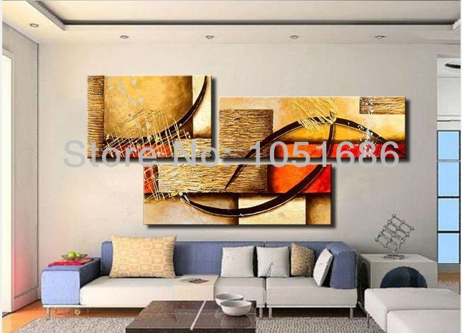 Living Room Wall Decor Sets : Painting Modern Living Room Wall Decor Canvas 3 Panel Picture Art Sets ...