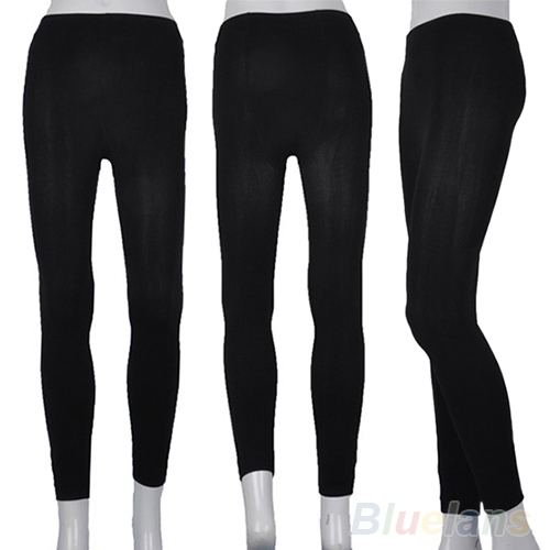 Fitness High Street Lady Womens Winter Warm Skinny Slim Stretch Thick Footless Leggings 02Y9 4AOL