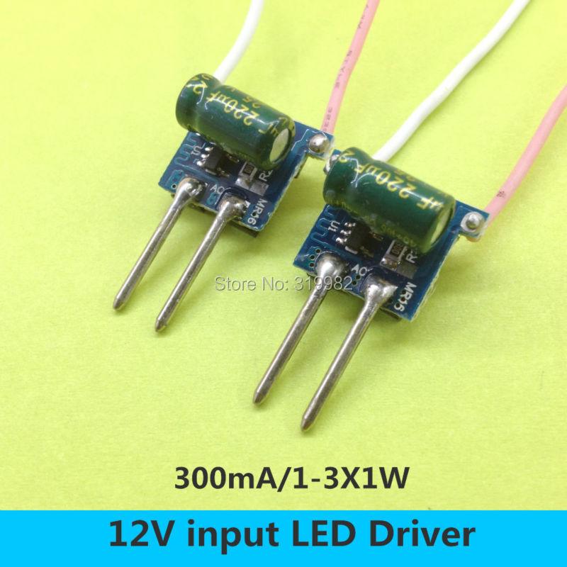 Led Mr16 Electronic Transformer Compatibility: 20 PCS MR16 2pin 12V LED Driver 1 3X1W Low Voltage