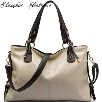 2015 Fashion Designer Brand bag Leather +PU handbags women bags high quality leather Hot sell