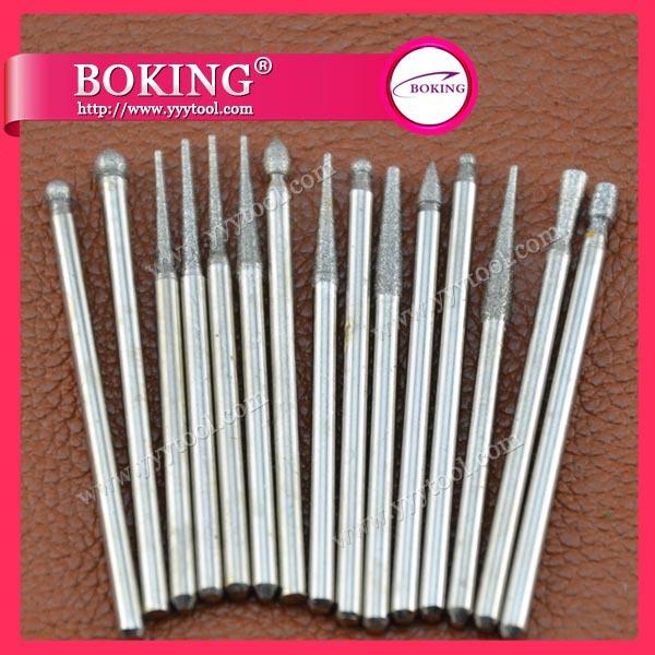 30pcs Dental Diamond burs set in jewelry tools and equipment. Dremel set diamond burs(China (Mainland))