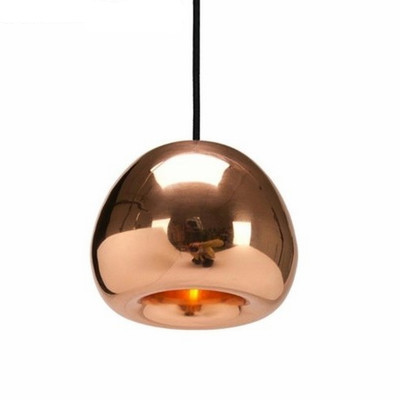 Modern Art Silver Bronze Apple Glass Pendant Lights Living Room Plating Glass Suspension Lights Dia15cm H12cm(China (Mainland))